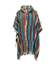NEW UNISEX GHERI COTTON PONCHO MEN WOMEN WARM BRUSHED COTTON HIPPIE COAT