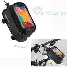Borsa custodia tubo bicicletta bici tasca touch screen NERA per smartphone CCK