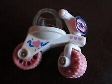 Vintage Fisher Price bike motorcycle ride clip toy smuggler Smooshees Smooshies