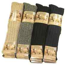 Men's Chunky Long Wool Socks 6 Pairs,Thick Heavy Duty Work Boot Socks, 6-11