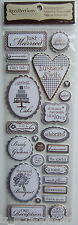 Recollections ~WEDDING WORDS~ Dimensional Stickers; Bride Groom Reception Dance