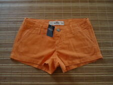 NEWT . Hollister..Woman's Shorts Stretch . Size 0  ( Lower W 28  )  orange