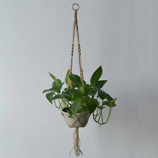Plant Hanger Macrame Hanging Basket Flowerpot Bonsai Holder Balcony Garden Decor