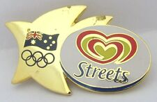 STREETS ICE CREAM GOLD LOGO SYDNEY OLYMPIC GAMES 2000 PIN BADGE COLLECT #295