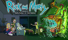RICK AND MORTY 24X36 POSTER  ADULT ANIMATE ART TV SHOW MOVIE SUPERNATURAL DVD!!