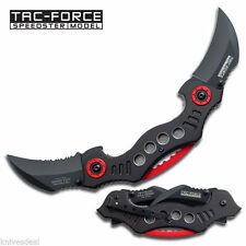 Double Trouble Twin Karambit Blades Spring Assisted Knife