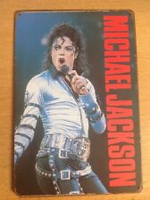 Metal Michael Jackson . Picture, Sign . 20x30cm. Vintage Bad