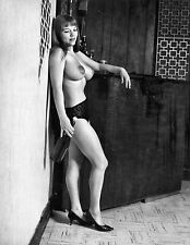 1960s Nude Michelle Angelo with a wine bottle titanic Breasts 8 x 10 Photograph