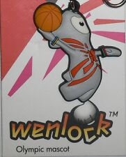 London 2012 Olympic Mascot Wenlock Basketball Player -  KeyChain Souvenir Gift