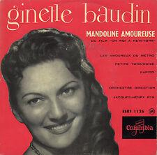 GINETTE BAUDIN MANDOLINE AMOUREUSE FRENCH ORIG EP JACQUES-HENRY RYS