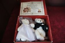 """1994 THE BIALOSKY TREASURY LIMITED EDITION """"ANDREW AND ASHLEY"""" WEDDING BEARS"""