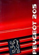 Peugeot 205 Prospekt 1989 brochure Auto PKWs Frankreich Autoprospekt Broschüre