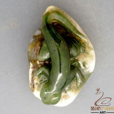 HAND CARVED LIZARD NATURAL MULTI COLOR AGATE NECKLACE PENDANT ZL1000113