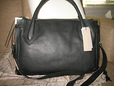 NWT Foley + Corinna FC FRAMED snake-embossed calf leather Satchel  BLK ANACONDA