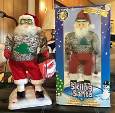 Gemme Christmas 1998 Skiing Santa in Original Box Music is Let It Snow