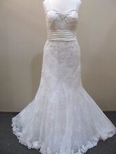 Alfred Angelo Wedding Gown #8520 size 10 Ivory Fit & Flare Modern Vintage Lace