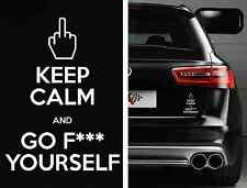 KEEP CALM F*CK YOURSELF Funny Die Cut Sticker Vinyl Decal Car For Nissan Acura