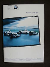 BMW Motorsport - Formel 1 Exclusive-Events 2001 - Prospekt Brochure 01.2000