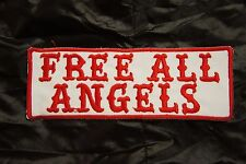 SUPPORT 81 FREE ALL ANGELS 666 Hells vest patch Outlaw Biker 1% er NEW