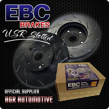 EBC USR SLOTTED FRONT DISCS USR414 FOR ABARTH 695 1.4 TURBO 180 BHP 2008-