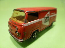 MAJORETTE 244 VW VOLKSWAGEN T2 - CAFE HAG - RED 1:60 RARE - GOOD CONDITION