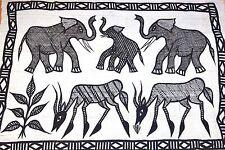 Mudcloth Korhogo Textile Painting By Senufo People, Korhogo Villiage Ivory Coast