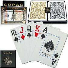 Copag Poker Size Jumbo Index 1546 Playing Cards (Black Gold Setup) New