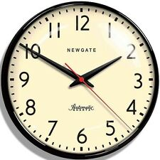 LARGE Newgate Station Black Red Shabby Chic Retro Kitchen Vintage New Wall Clock