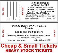 400 RAFFLE or ADMISSION/ DINNER/DRAWING TICKETS Numbered Cheap&Small HEAVY STOCK
