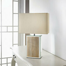 Sparkle Mirror Glitter Table Lamp Gold Glitter Base & Cream Shade