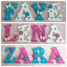 Personalised Girls/Boys Bedroom Wall Door Wooden Letter Name Plaque Sign Plate