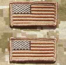 2 MINI USA UNITED STATES FLAGS US ARMY ISAF TACTICAL HAT CAP DESERT VELCRO PATCH