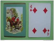 carte à jouer ancienne de collection : la chasse à courre
