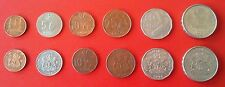 Africa-Nigeria-1991-1 5 10 25 50 Kobo and 1 Naira set of 6 Coins-Tree-Maize-Nuts
