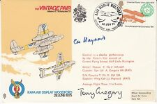 Rare AD12cZ The Vintage Pair Signed Both  Pilots of the Vintage Pair