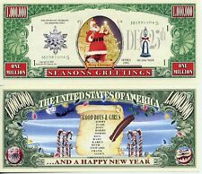 Santa List Merry Christmas Dollar Bill Collectable Fake Funny Money Novelty Note