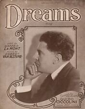 1924 Dreams by James La Mont and Egbert Van Alstyne showing Guido Ciccolini