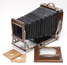 BEAUTIFUL DEARDORFF 5x7 WOODEN FIELD VIEW CAMERA w/ 5x7 & 4x5 REDUCING BACK - EX