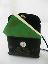 Black Leather Holy Quran Quraan Koran. full book. pocket size. in arabic.islamic
