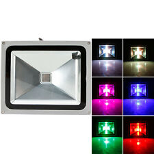 30W RGB LED Flood Light Outdoor Spotlight Lamp Waterproof w/ IR44 Remote Control