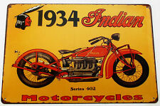 INDIAN MOTORCYCLE (2)  METAL TIN SIGNS vintage cafe pub bar garage decor chic