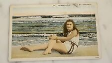 """Vintage Postcard """"One Reason tje Waves Are Wild in Florida"""""""