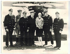 ANITA PAGE Silent Film Actress with Military Navy Officers & Airplane