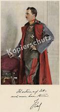 Kaiser Karl I. Uniform Feldmarschall Orden Amtsantritt K.u.K Habsburg Adel 1916