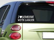 """I love someone with Cancer sticker *H374* 8"""" awareness relay lymphoma cure"""
