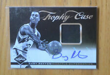 Gary Payton 2011-12 Panini Limited Trophy Case Game-Worn Jersey Autograph #D /25