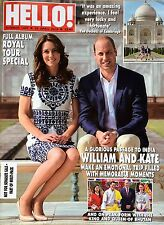 HELLO Magazine 1427,KATE MIDDLETON WILLIAM ROYAL TOUR SPECIAL 2016 INDIA BHUTAN