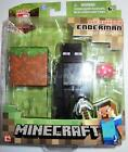 MINECRAFT ACTION FIGURES ENDERMAN with GRASS BLOCK & MUSHROOM by JAZWARES MISB
