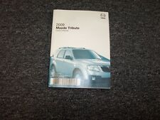 2009 Mazda Tribute Owner Owner's Manual i Sport i Touring s Sport  s Touring