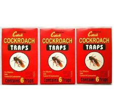 3 Pack Cockroach Traps, roach trap, Cockroach Adhesive glue trap 100% Brand New